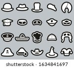 Hat Icons White On Black...