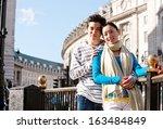 portrait of an attractive... | Shutterstock . vector #163484849
