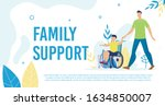 disabled child family support ... | Shutterstock .eps vector #1634850007