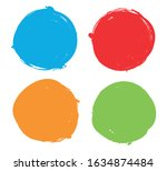 vector grunge circle.grunge... | Shutterstock .eps vector #1634874484