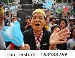 bangkok   nov 3  unidentified... | Shutterstock . vector #163488269