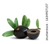 black olives low poly.... | Shutterstock .eps vector #1634907157