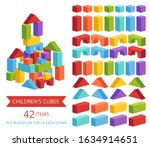 a set of children's cubes in...   Shutterstock .eps vector #1634914651
