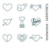 valentine set icon vector...   Shutterstock .eps vector #1634919871