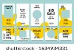 set of social media sale banner ... | Shutterstock .eps vector #1634934331