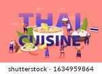 thai cuisine concept. tiny male ... | Shutterstock .eps vector #1634959864