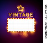 retro billboard waiting for... | Shutterstock .eps vector #163496405