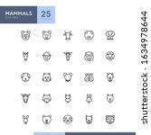 mammals icon pack in outline...