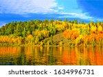 Autumn Forest Lake Reflection...