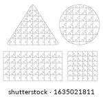 jigsaw puzzle template. vector... | Shutterstock .eps vector #1635021811