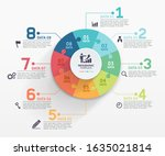 jigsaw puzzle infographics... | Shutterstock .eps vector #1635021814