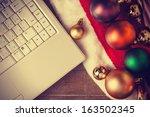 Computer And Christmas Gifts