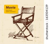 hand drawn movie illustration.... | Shutterstock .eps vector #163504139