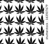 Seamless Marijuana Black Leave...