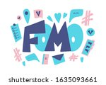 fomo abbreviation text emblem... | Shutterstock .eps vector #1635093661