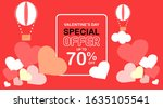 valentine's day offers special... | Shutterstock .eps vector #1635105541