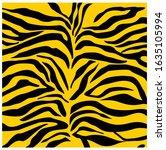 zebra print  animal fur stripes.... | Shutterstock .eps vector #1635105994