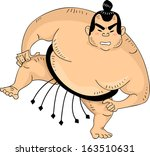 illustration of a sumo wrestler ...