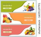 healthy diet concept. organic... | Shutterstock .eps vector #1635119791