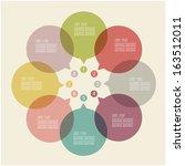 speech bubble infographic... | Shutterstock .eps vector #163512011