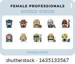 female professional careers...   Shutterstock .eps vector #1635133567