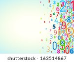 vector rainbow colored... | Shutterstock .eps vector #163514867