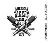 bikers club emblem  motorcycle... | Shutterstock .eps vector #1635153334