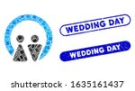 mosaic marriage and distressed... | Shutterstock .eps vector #1635161437