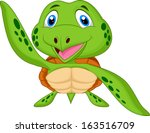 cute sea turtle cartoon   Shutterstock .eps vector #163516709