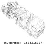oilfield coiled tubing... | Shutterstock .eps vector #1635216397