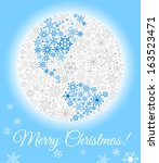 christmas planet made from... | Shutterstock .eps vector #163523471