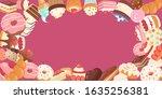 patisserie background frame... | Shutterstock .eps vector #1635256381
