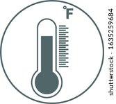 fahrenheit thermometer icon....
