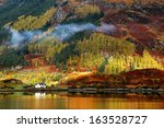 autumn colours in highlands ... | Shutterstock . vector #163528727