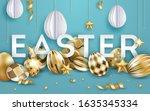 easter vector black background... | Shutterstock .eps vector #1635345334