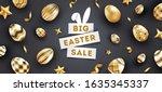 easter sale black background... | Shutterstock .eps vector #1635345337