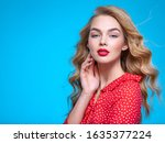 portrait of a beautiful young...   Shutterstock . vector #1635377224