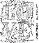 Love Font Flowers Elements...