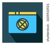 web browser flat icon vector  ...