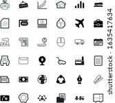 business vector icon set such as: photography, spam, advertising, pollution, email, employee, printer, social, rubber, cutter, site, man, map, supply, yard, camera, vehicle, legal, notice, receive - stock vector