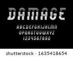 condensed damaged font  crashed ...   Shutterstock .eps vector #1635418654