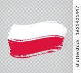 flag of poland from brush... | Shutterstock .eps vector #1635421447