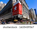 Small photo of Macy's Herald Square Flagship Department Store in Midtown Herald Square. Manhattan. Manhattan, New York, USA July 16, 2017:
