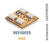 Refugees Asylum Isometric...