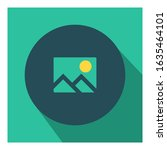 photo gallery flat icon vector  ...