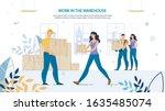 people loaders at work in...   Shutterstock .eps vector #1635485074
