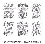 happy valentine's day vector... | Shutterstock .eps vector #1635554821