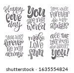 happy valentine's day vector... | Shutterstock .eps vector #1635554824