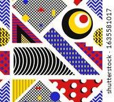 vector modern geometric... | Shutterstock .eps vector #1635581017