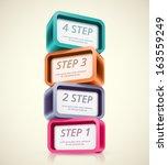 four steps  infographics banner.... | Shutterstock .eps vector #163559249